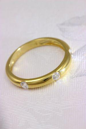 ASS 333 Gold Damen Memory Ring mit 3 Zirkonia weiß Goldring, Gelbgold Gr.17 (54) Memory ring – Bild 4