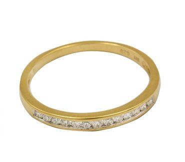 ASS 333 Gold Damen Memory Ring mit 13 Diamanten (Brillanten) Goldring,Gelbgold Gr.18 (56) Memoryring – Bild 1