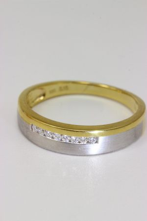 ASS 333 Gold Verlobungsring Ring mit 8 Diamanten (Brillanten) 0,1ct Bicolor Gr.19 (60) – Bild 2