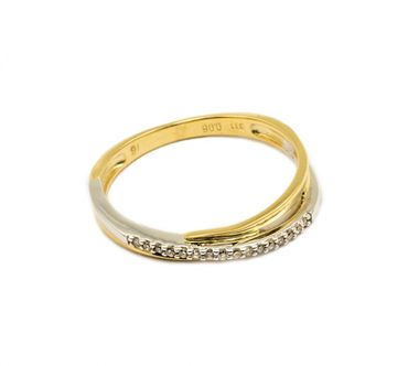 ASS 333 Gold Verlobungsring Ring mit 16 Diamanten (Brillanten) 0,06ct Bicolor Gr.17 (54) – Bild 1