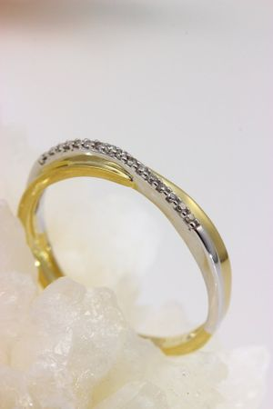 ASS 333 Gold Verlobungsring Ring mit 16 Diamanten (Brillanten) 0,06ct Bicolor Gr.18 (56) – Bild 4