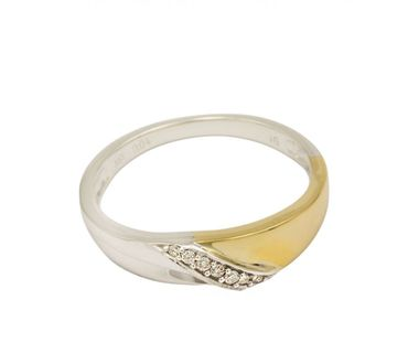 ASS 333 Gold Verlobungsring Ring mit 7 Diamanten (Brillanten) 0,04ct Bicolor Gr.17(54) – Bild 1