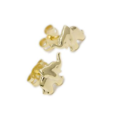 ASS 333 Gold Damen Kinder Ohrringe Ohrstecker Elefant Gelbgold – Bild 1