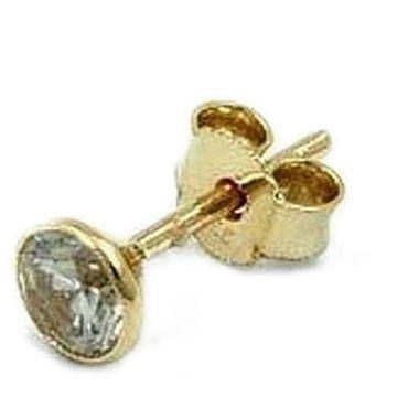 ASS 333 Gold Einzel  Ohrstecker Kelch Gelbgold  Zirkonia 2,5mm – Bild 1