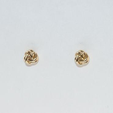 ASS 333 Gold Damen Ohrringe Ohrstecker Stecker Doppelknotten – Bild 3