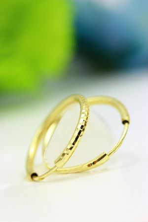 ASS 333 Gold Topmodische Damen Kinder Ohrringe Creolen 20 x 2 mm diamantiert – Bild 3