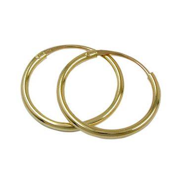 ASS 585 Gold Topmodische Damen Kinder Ohrringe Creolen 12mm – Bild 1