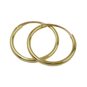ASS 333 Gold Topmodische Damen Kinder Ohrringe Creolen 13 mm – Bild 1