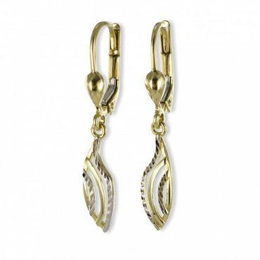 ASS 333 Gold Ohrschmuck Ohrringe Ohrhänger 2-farbig, bicolor – Bild 1