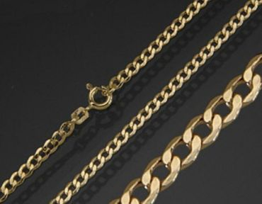 ASS 333 Gold Damen Herren Panzer Kette Panzerkette Collier 50cm 2mm – Bild 3