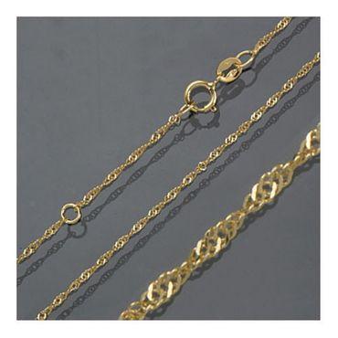 ASS 585 Gold Halskette Singapur Kette 1,2mm 38-40cm Singapurkette diamantiert – Bild 3