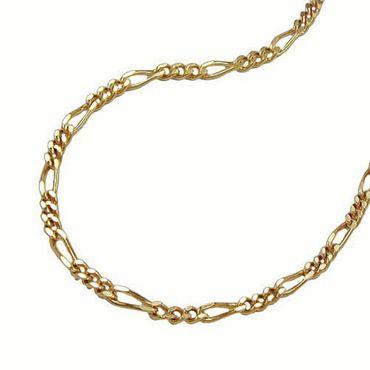 ASS 585 Gold Damen Herren Figaro Kette Halskette Collier 45 cm,2mm,14K – Bild 1