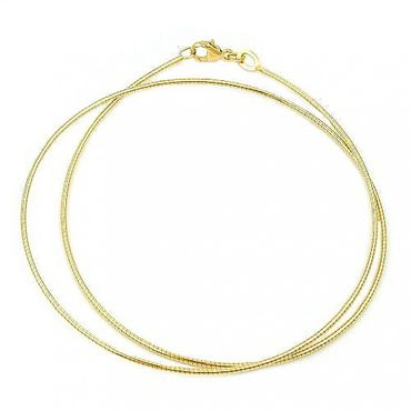 ASS 333 Gold Collier Halsreif Omega Tonda Kette 42cm 0,8 mm, Gelbgold, Halskette – Bild 4