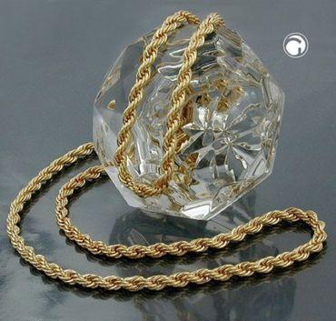 ASS 333 Gold Damen Kordel Kette 2,2mm 50cm Halskette Collier Kordelkette – Bild 2