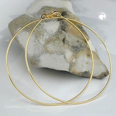 ASS 333 Gold Collier Halsreif Omega Tonda Kette 42cm 1,25 mm Halskette Gelbgold – Bild 2