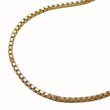 Gold Double Venezianer Collier Kette Venezianerkette Halskette 42cm 1,4mm – Bild 1