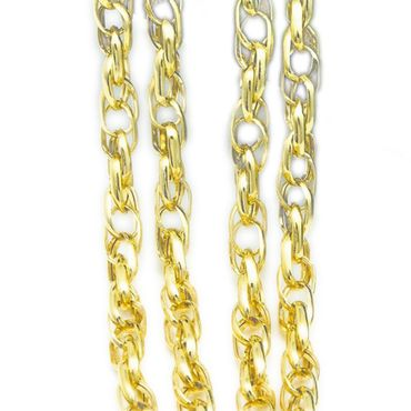 ASS 585 Gold Singapur Kordel Kette,gedreht, Singapurkette Kordelkette 55 cm 3mm,14K – Bild 1
