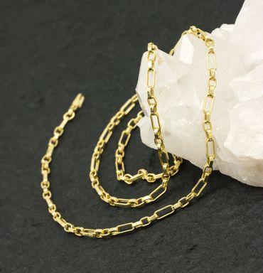 ASS 585 Gold  Anker Kette Halskette Ankerkette 50 cm 3,5mm ,14K, Gelbgold – Bild 8