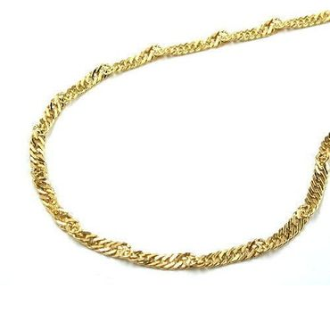 ASS 585 Gold  Damen Kinder Singapur Kette Halskette 40 cm ,1,5 mm Singapurkette,14K – Bild 2
