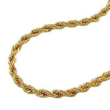 585 Gold Feine Kordel Kette 1,5 mm 19cm Halskette Armband Kordelarmband 14K – Bild 4