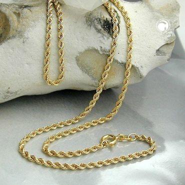 585 Gold Feine Kordel Kette 1,5 mm 17cm Halskette Armband Kordelarmband 14K – Bild 2
