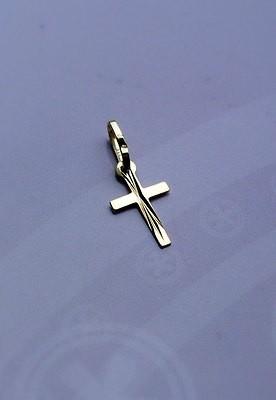 333 Gold Damen, Kinder, Herren Kreuzanhänger Anhänger Kreuz, diamantiert. Neu