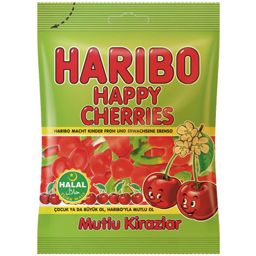 Haribo Happy Cherries Kirschen 80g (Helal) – Bild