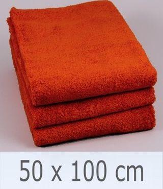 Handtuch -Serie RESIDENZ Stars, 500 g/m², Handtuch 50x100 cm, ziegel
