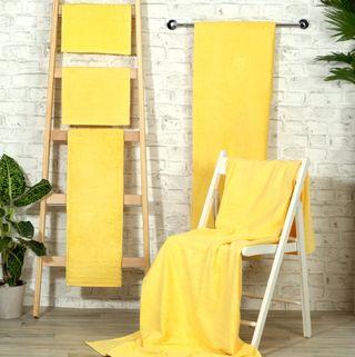 Handtuch -Serie RESIDENZ Standard, 400 g/m², Saunatuch / Strandtuch 90x190 cm, sonnengelb
