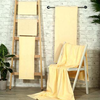 Handtuch -Serie RESIDENZ Standard, 400 g/m², Saunatuch / Strandtuch 90x190 cm, vanille