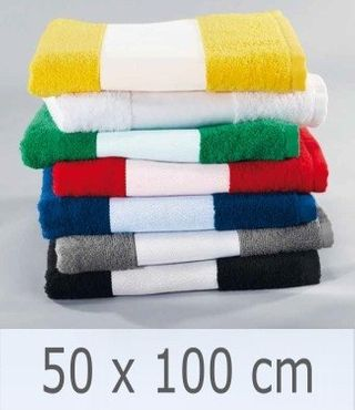 10 Stück Handtuch -Serie RESIDENZ Print, 400 g/m², Handtuch 50x100 cm, weiß