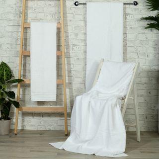 Handtuch -Serie RESIDENZ Princess 550 g/m², Duschtuch 70x140 cm, weiß