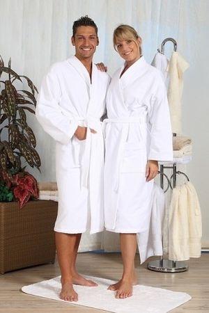 Bademantel -Serie RESIDENZ Kimono 300, 380g/m², Bademantel Größe L, weiß