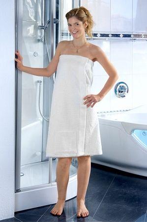Saunakilt für Sie -Serie RESIDENZ Wellness, 320g/m², Saunakilt 155x80 cm, weiß