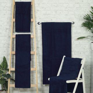 Handtuch -Serie RESIDENZ Deluxe Plus, 630 g/m², Saunatuch 90x220 cm, nachtblau