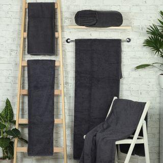 Handtuch -Serie RESIDENZ Deluxe Plus, 630 g/m², Saunatuch 100x180 cm, schiefer