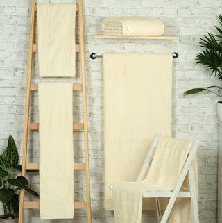 Handtuch -Serie RESIDENZ Deluxe Plus, 630 g/m², Saunatuch 100x180 cm, creme