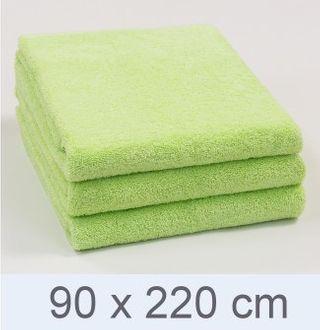 Handtuch -Serie RESIDENZ Deluxe Plus, 630 g/m², Saunatuch 90x220 cm, limette