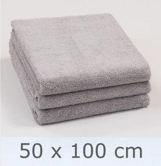 Handtuch -Serie RESIDENZ Deluxe Plus, 630 g/m², Handtuch 50x100 cm, mittelgrau