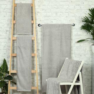 Handtuch -Serie RESIDENZ Deluxe Plus, 630 g/m², Saunatuch 100x180 cm, mittelgrau