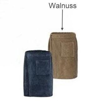 Saunakilt für Ihn -Serie RESIDENZ Wellness, 320g/m², Saunakilt 155x55 cm, walnuss