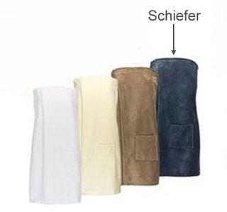 Saunakilt für Sie -Serie RESIDENZ Wellness, 320g/m², Saunakilt 155x80 cm, schiefer
