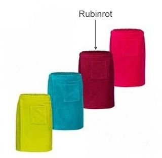 Saunakilt für Ihn -Serie RESIDENZ Wellness, 320g/m², Saunakilt 155x55 cm, rubinrot