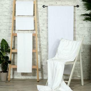Handtuch -Serie RESIDENZ Standard, 400 g/m², Saunatuch XL / Strandtuch 90x220 cm, weiß