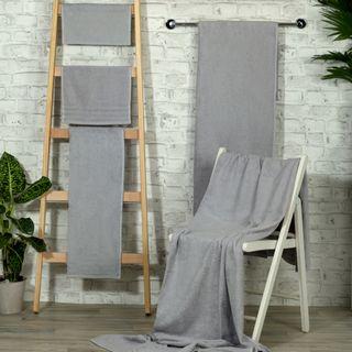 Handtuch -Serie RESIDENZ Standard, 400 g/m², Saunatuch XL / Strandtuch 90x220 cm, kieselgrau