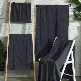 Handtuch-Set Amazonas, Spar-Paket, 500 g/m². 2x Duschtuch, 4x Handtuch, 4x Gästetuch, schiefer