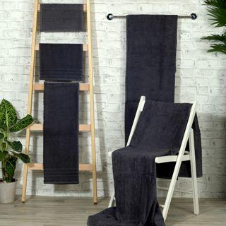 Handtuch -Serie RESIDENZ Standard, 400 g/m², Saunatuch / Strandtuch 90x190 cm, dunkelgrau