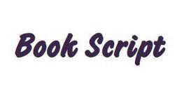 Namenszug Schrift BOOK SCRIPT, 30 mm (bis 10 Buchstaben)