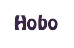Namenszug Schrift HOBO, 25 mm (bis 21 Buchstaben)