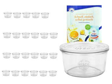 24er Set Weck Gläser 50ml Sturzgläser mit 24 Glasdeckeln inkl. Gelierzauber Rezeptheft von Diamantzucker – Bild 1